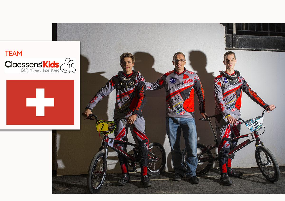 Présentation du team Suisse CLAESSENS'KIDS