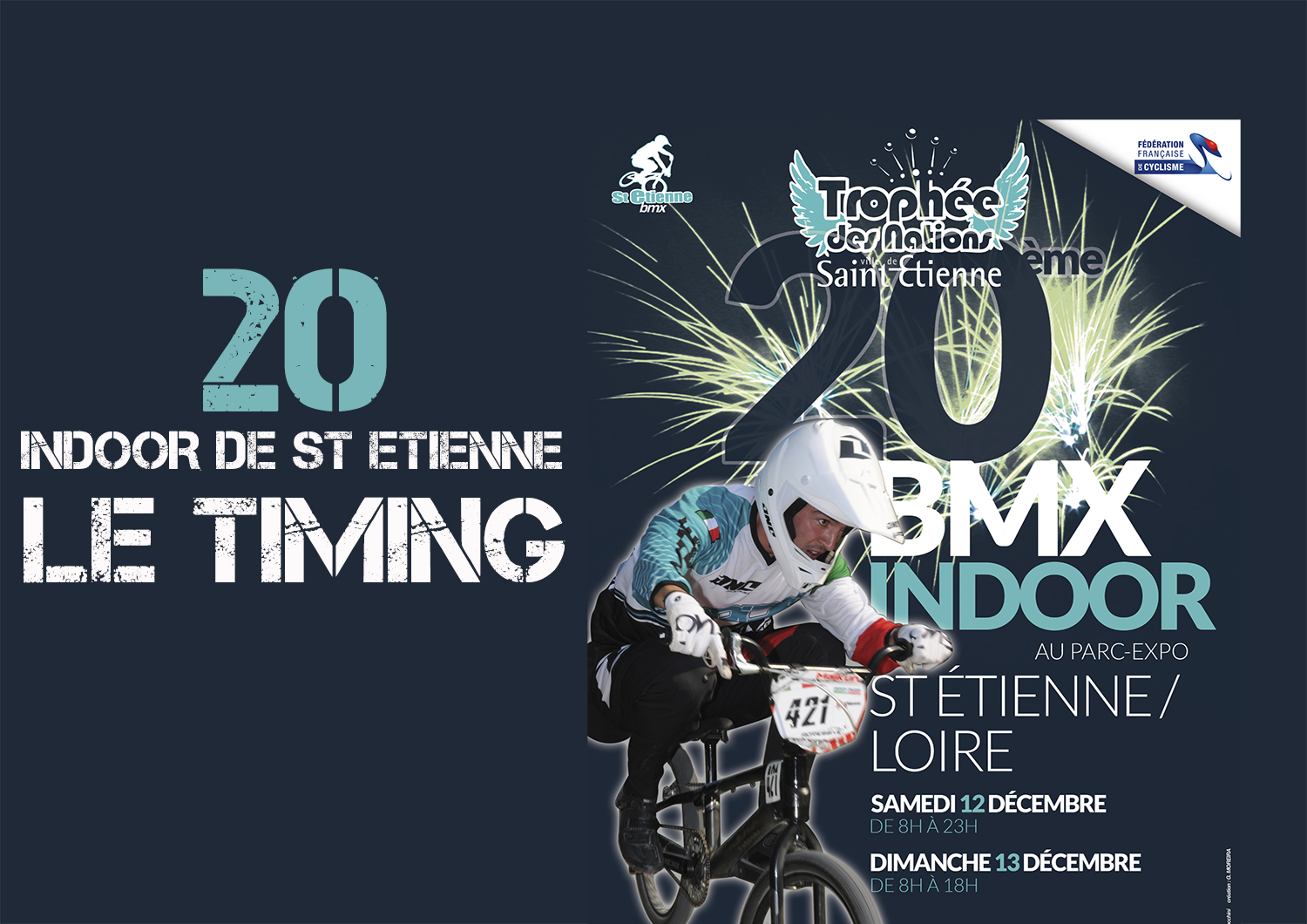 INFOS INDOOR ST ETIENNE: LE TIMING OFFICIEL