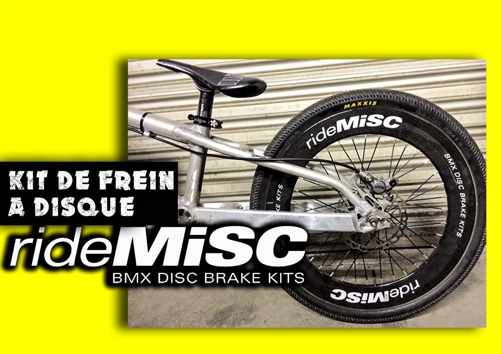 Rouler avec un disque, c'est possible avec Ride MISC !