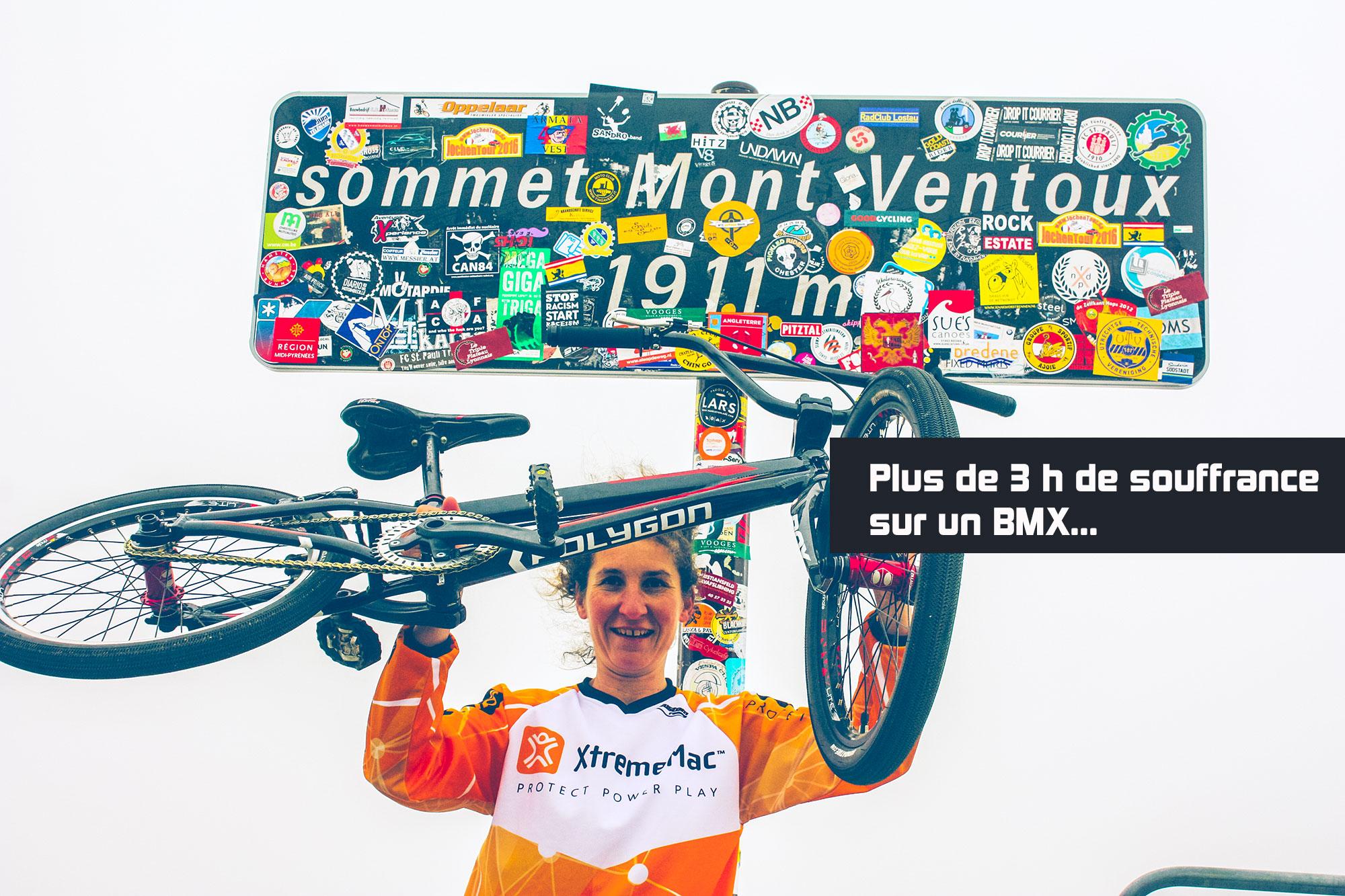 Karine Chambonneau se fait le Mont Ventoux sur son BMX !