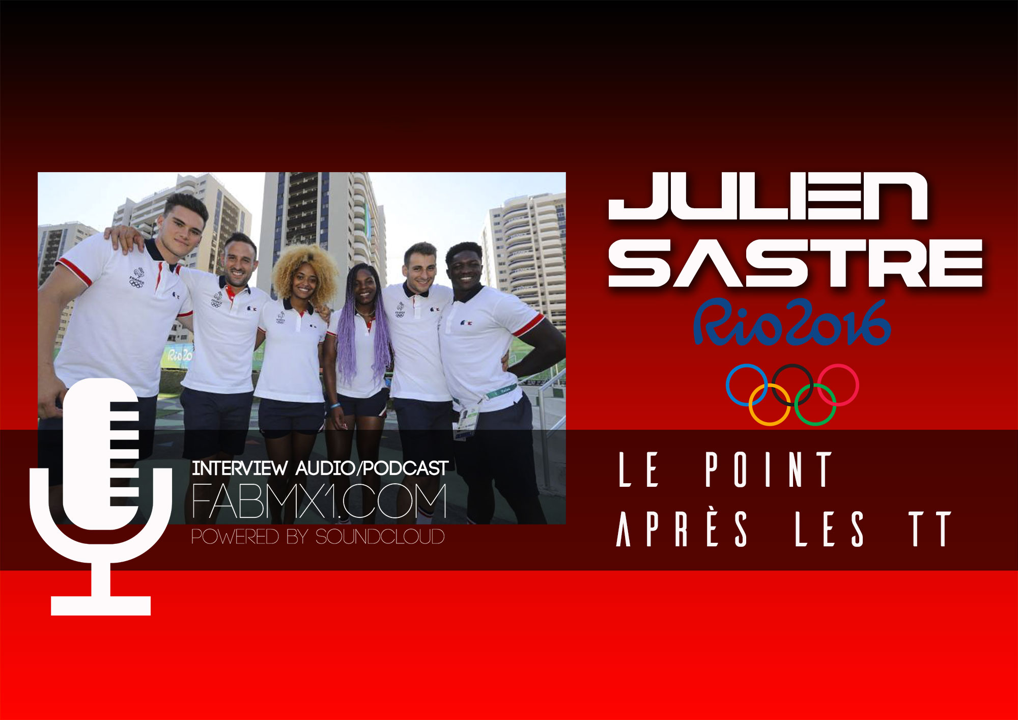 JO BMX:  Julien SASTRE en exclu au téléphone !