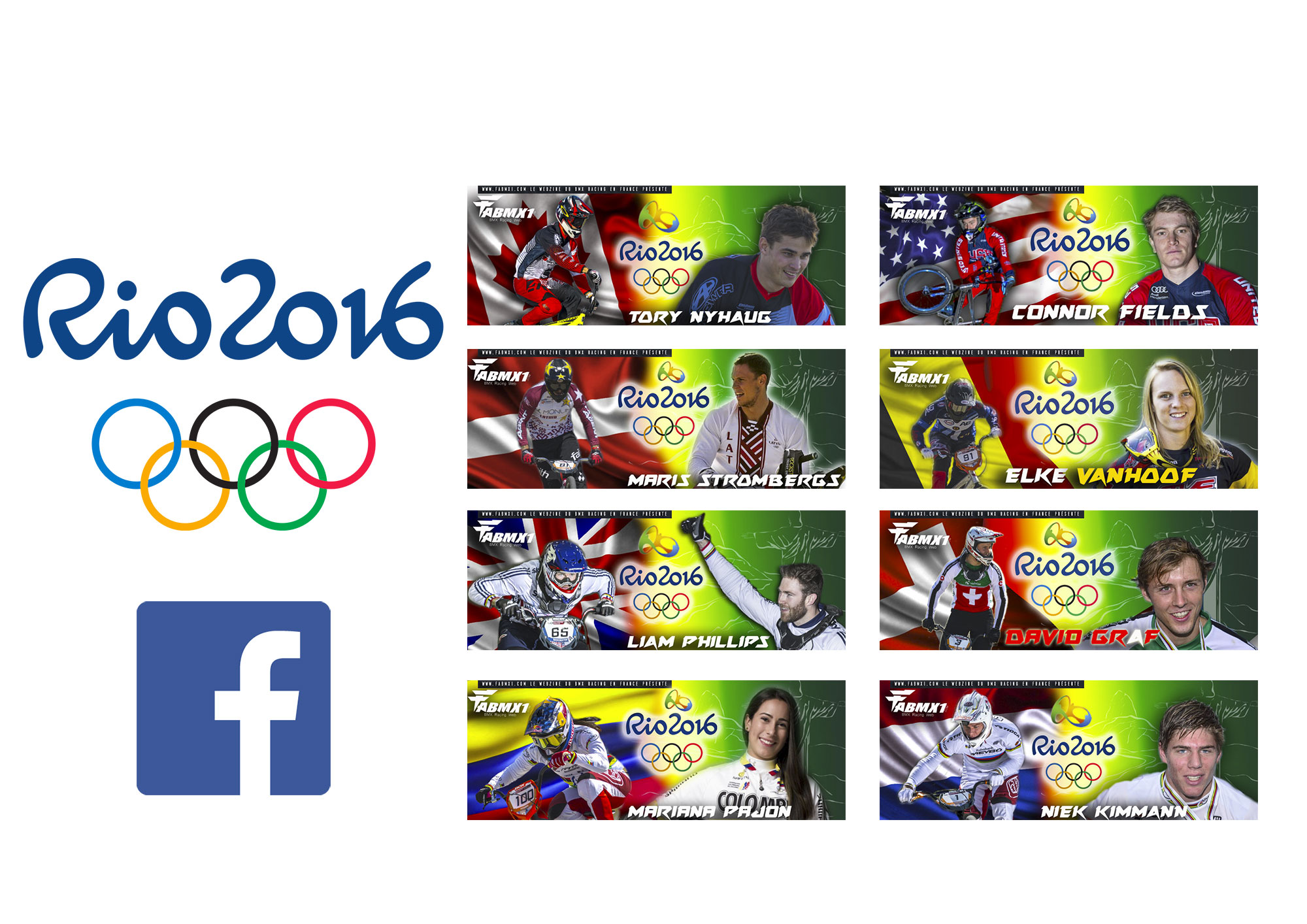 OLYMPICS Top Riders Facebook Cover KIT