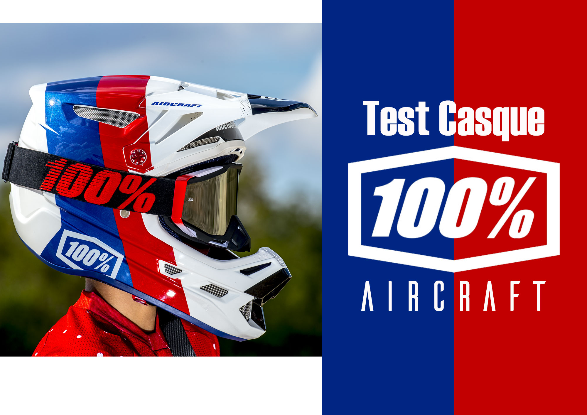 Test casque 100% AIRCRAFT