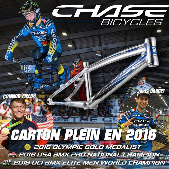 3 titres majeurs= Offre CHASE BICYCLES