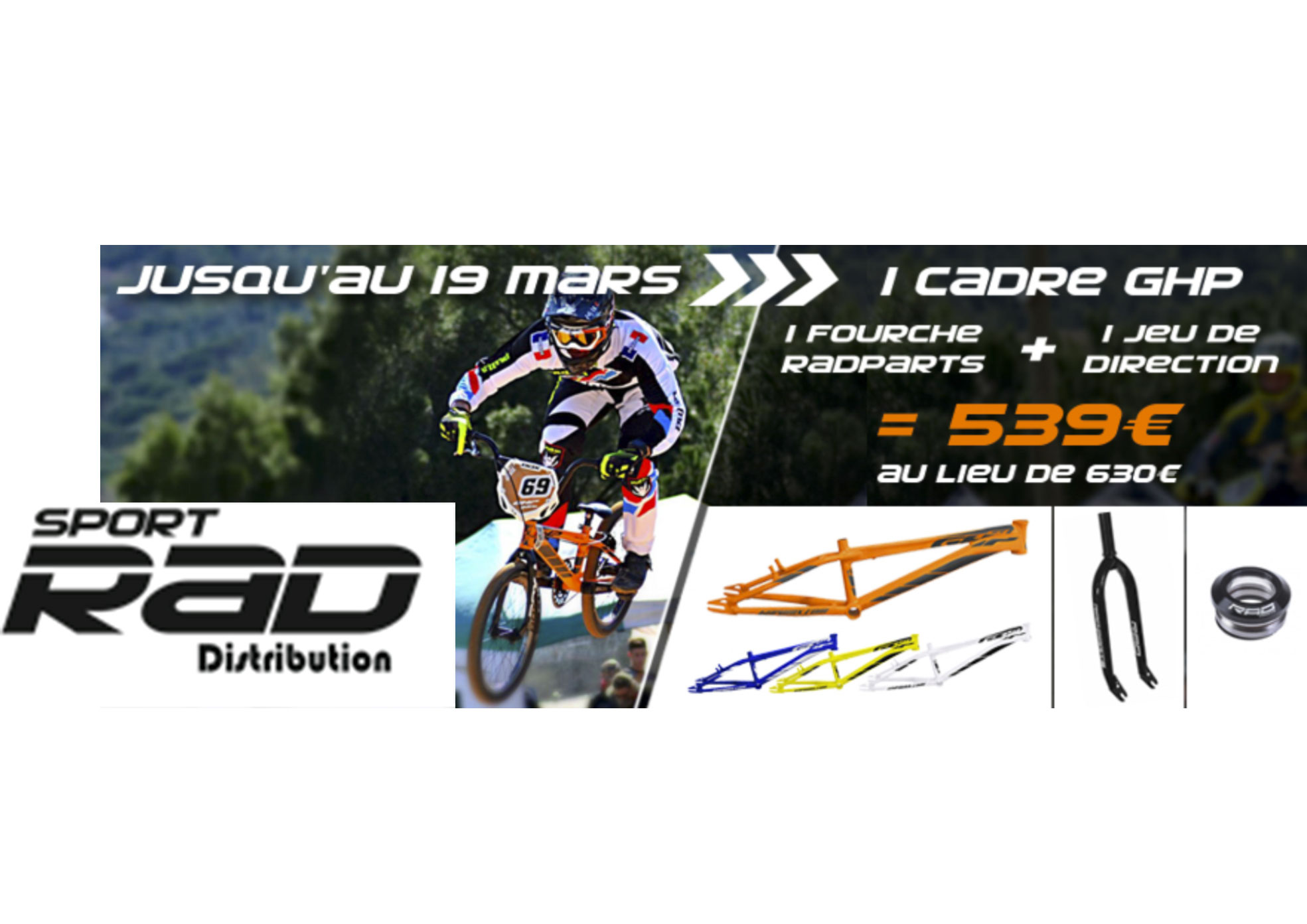 Promo kit cadre GHP + Fourche et Jdd RAD