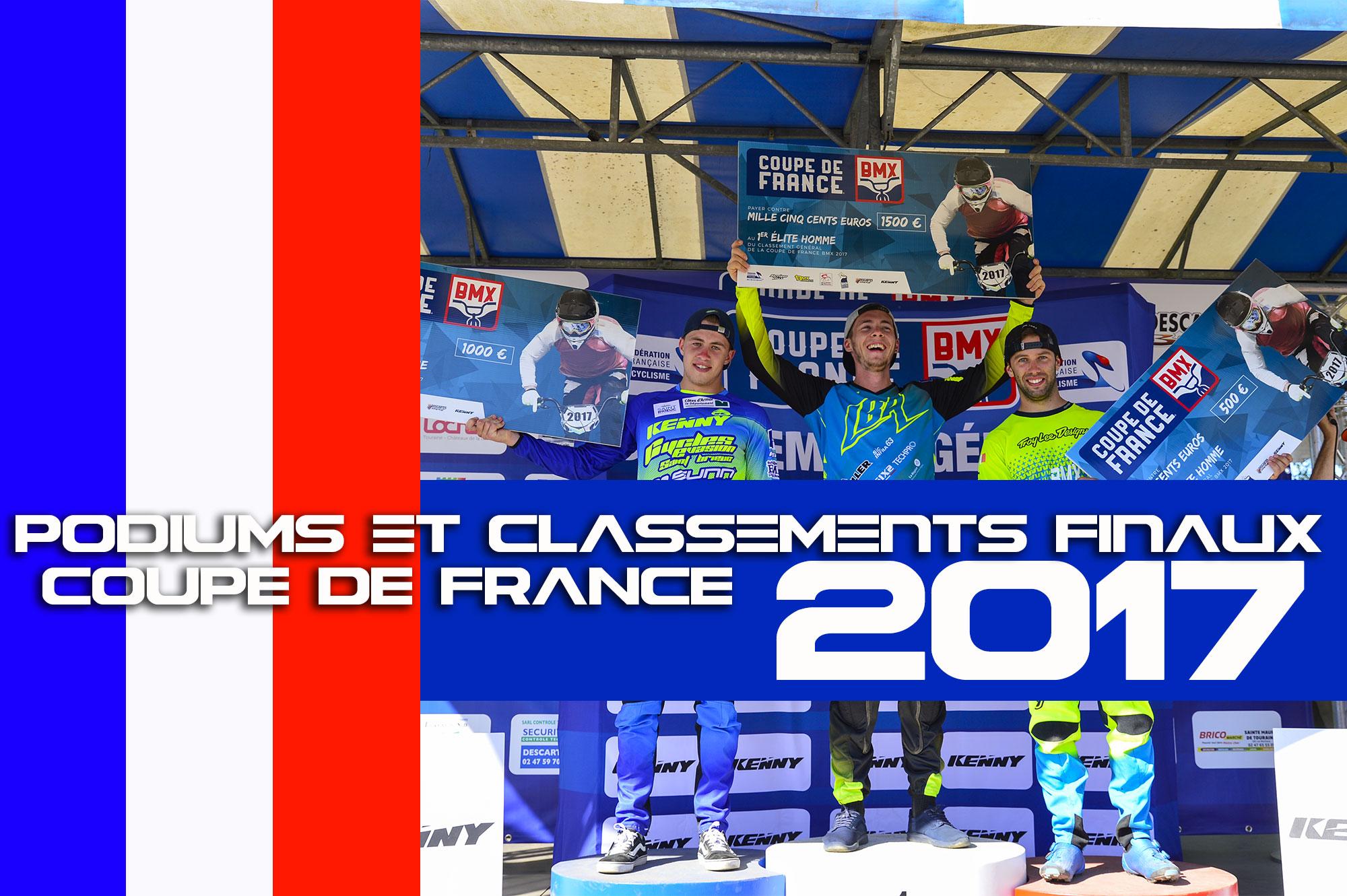COUPE DE FRANCE 2017: Classements finaux+photos podiums !