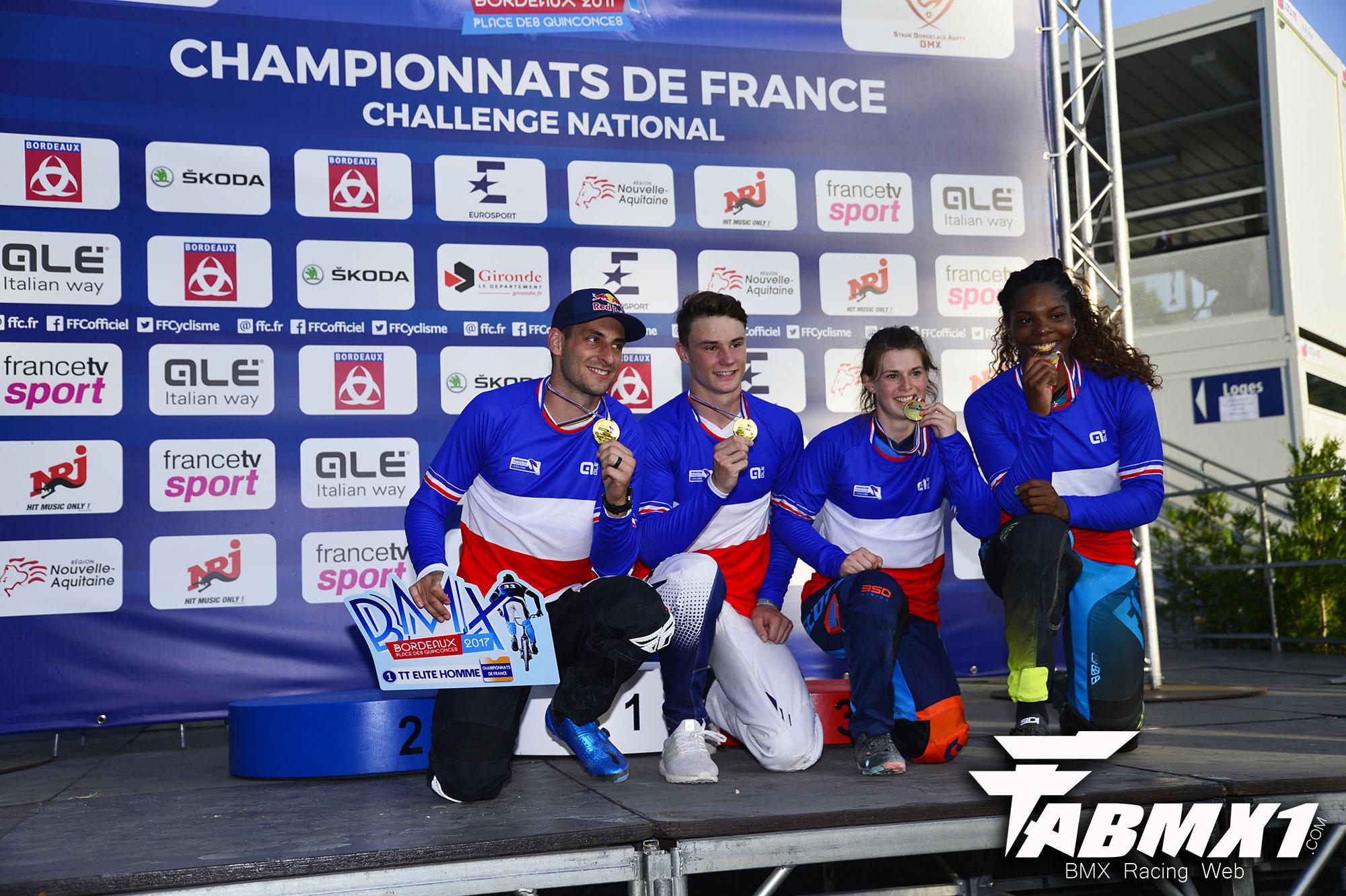 Les champions de France TT 2017