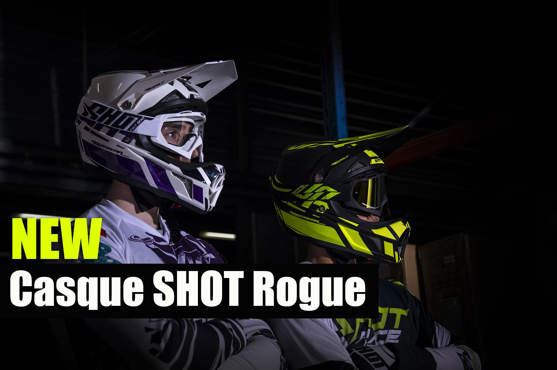 Nouveau casque SHOT Rogue