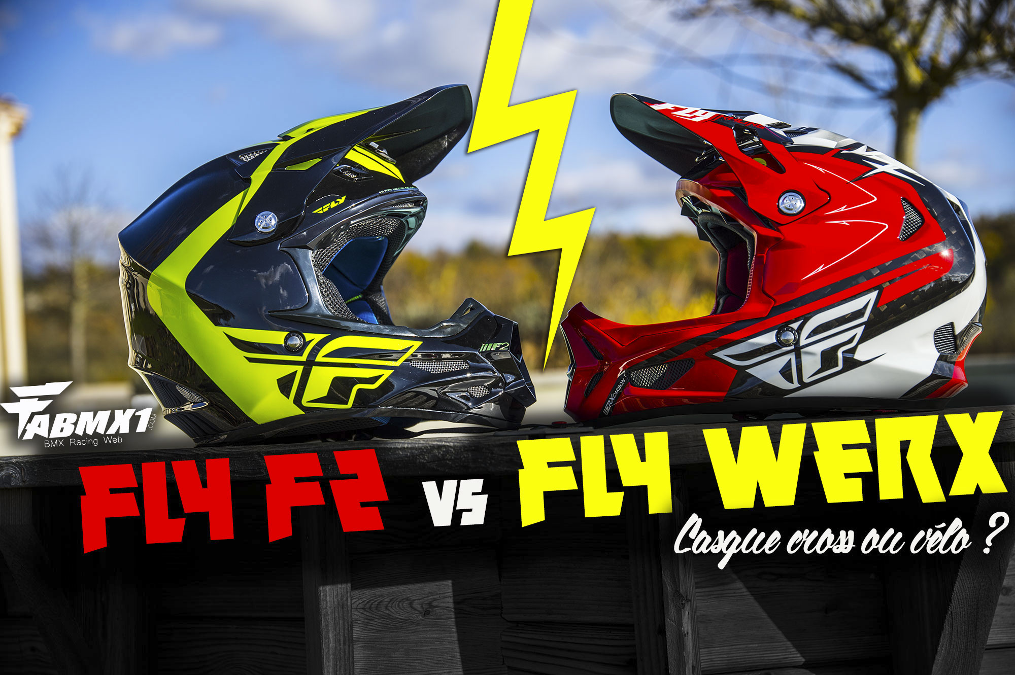 DUEL: Casque cross FLY F2 / Casque vélo FLY WERX