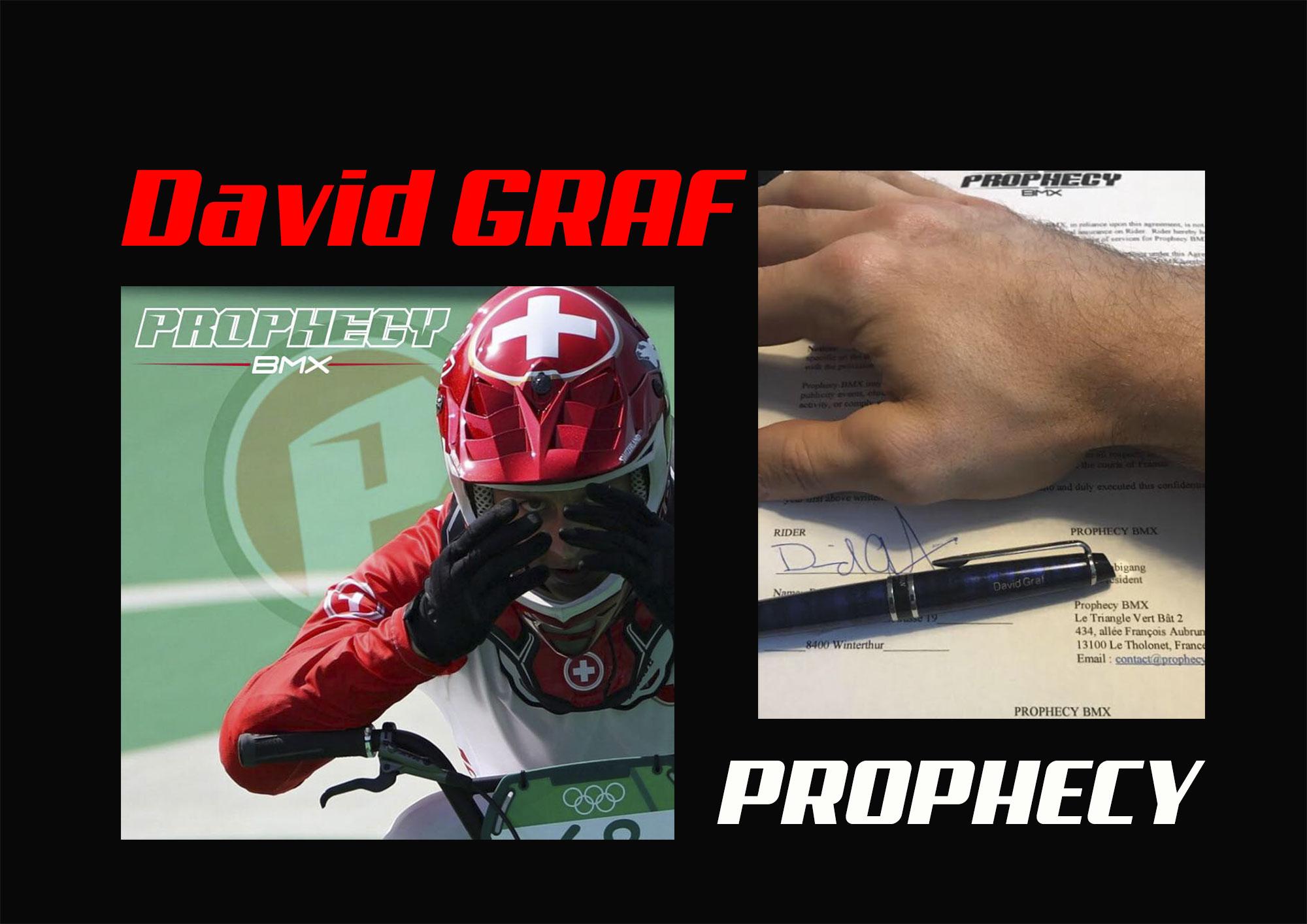 David GRAF signe PROPHECY BMX !