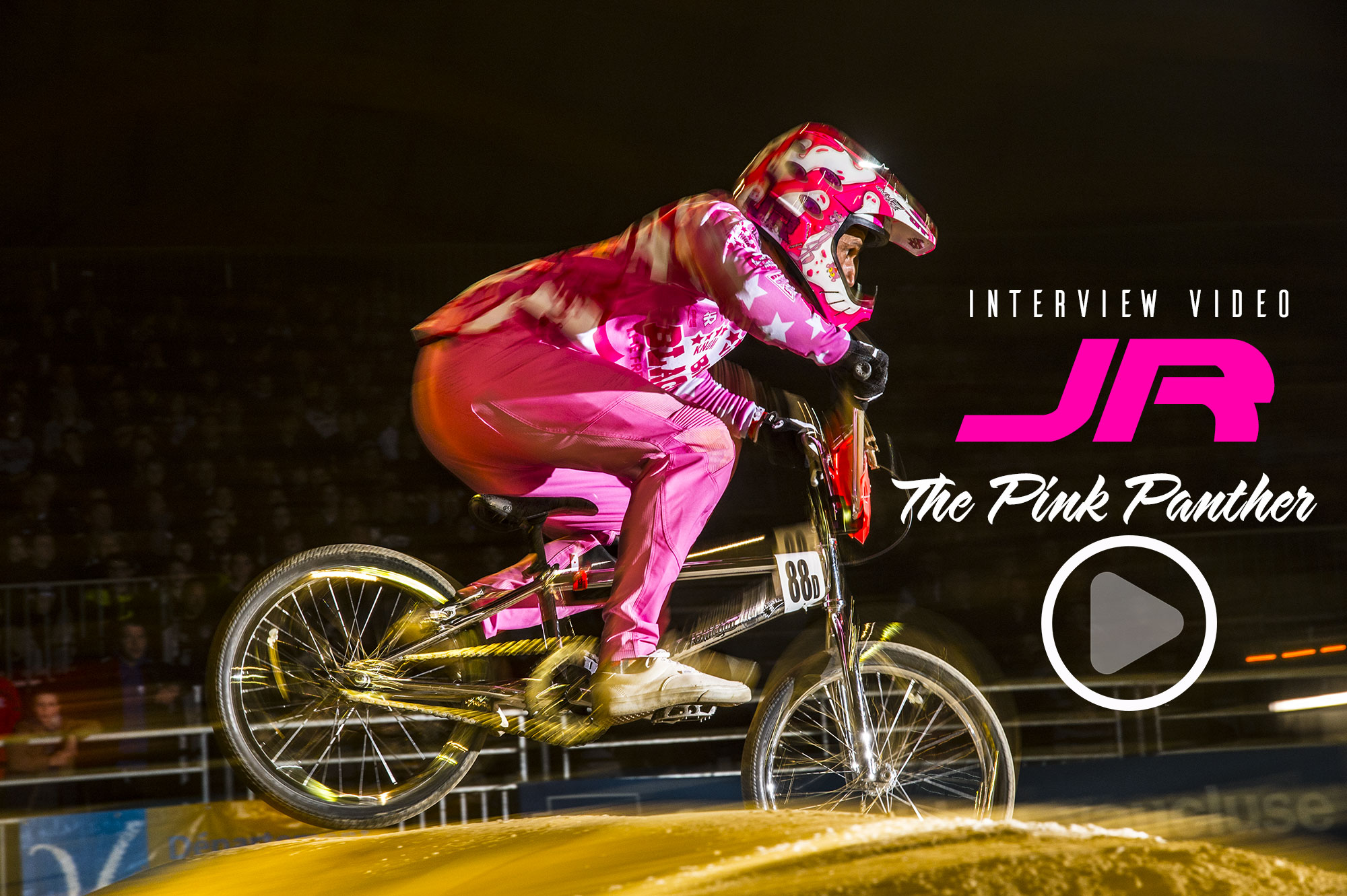 Interview vidéo de « JR » the Pink Panther !