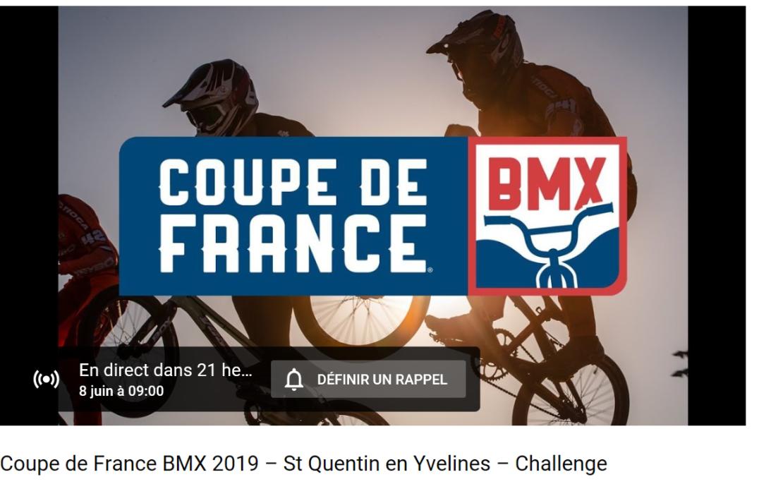 Live coupe de France et coupe du Monde BMX SQY J1.