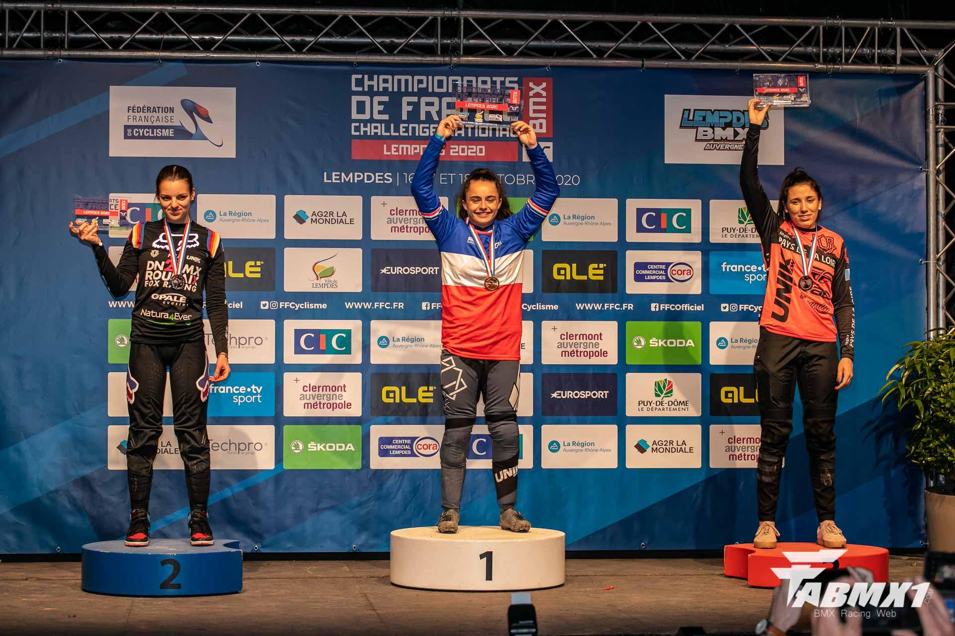 Résultats du championnat de France BMX Lempdes.